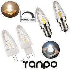 10/20X G4 G9 E14 E12 LED Bulb Dimmable COB Lamp Crystal Pendent Light Warm Cool