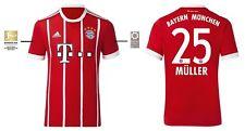 Trikot Adidas FC Bayern München 2017-2018 Home BL - Müller 25 [128 bis 3XL] FCB