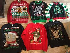 Men's Christmas Sweater Sweatshirt L M S Darth Vader Cat Bite me gingerbread