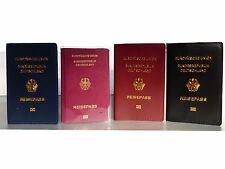 Reisepasshülle Ausweishülle Schutzhülle Etui Pass Rot Transparent Blau Schwarz