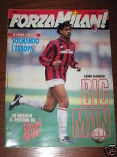 FORZA MILAN 1992/2 FRANK RIJKAARD RICCARDO PATRESE @@@