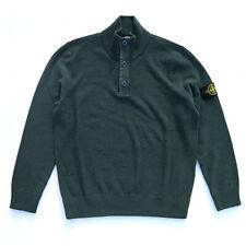 STONE Island maglione bottoni collo alto maglione verde taglia XL 5915510h2-V0057