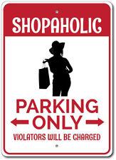 Shopaholic Parking Sign, Shopaholic Gift, Shopaholic Sign ENSA1002782
