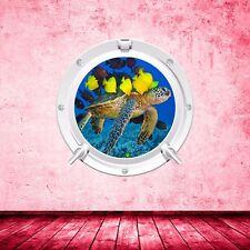 Tortuga peces de Acuario Mar Portilla Todo Color Pared Adhesivo Calcomanía Transferir wsdp 1