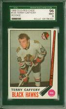 1969 - 1970 O-PEE-CHEE Terry Caffery RC Chicago Blackhawks #135 SGC 96 Mint 9