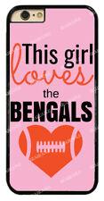 Chic Girl Love Cincinnati Bengals Pink Hard Case For iPhone /Samsung/ Sony/ LG