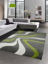 Designer rug living room carpet waves gray green white Dywan