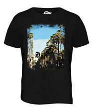 L.A. Los Angeles Grunge impresión Para hombres Camiseta Swag Top Manga Corta Blanco De Playa