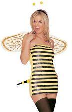 Bumble Bee Costume, Leg Avenue 83587, Adult Women's 4 Piece, Size S/M, M/L