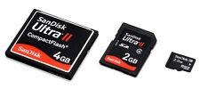 Tarjetas de memoria para cámaras digitales - CF Compact Flash SD Memory Stick
