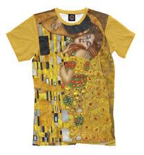 Gustav Klimt The Kiss art t-shirt all over print tee Artists full printed yellow