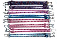 Rosa Azul Morado varios animado 2 Perro Chihuahua seguridad cinturón de asiento de coche doble