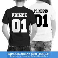 PRINCE 01 PRINCESS 01 Kinder Shirts Baby Shirt Wunschdruck Geschenk Eltern WOW