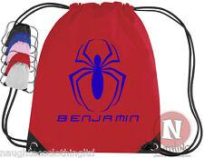 personnalisé Spiderman kit Sac. Cordon - add pour enfants nom