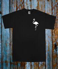 Piccolo Flamingo Animale T Shirt Bird Top Nero Bianco Blogger Tumblr popolari Tee