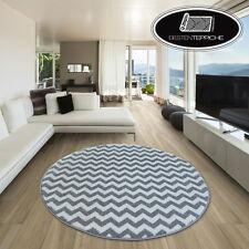 Modernen Weich Teppich SKETCH ZICKZACK F561 grau/weiß angenehm modisch