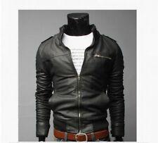 Men Punk Leather Jacket Biker Slim fit Motorcycle Nightclub Retro Outdoor Coats