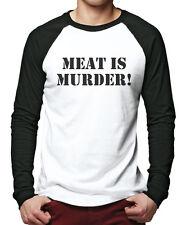Meat Is Murder Vegetarian Vegan - Animal Rights Men Baseball Top