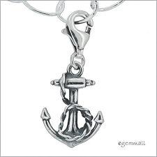 Sterling Silver Anchor Clip On Pendant Charm For European Bracelet #94071