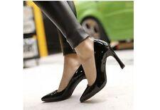 Zapatos de salón zapatos de mujer en negro efecto charol talón 9 cm 8429