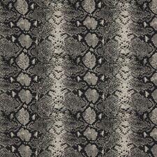 Uptown Fabric Robert Allen Beacon Hill Mia Black and White Snake Skin Silk Wool