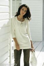 Hochwertiger Damen-Pullover Modehaus natur Gr.44 Neu/G2