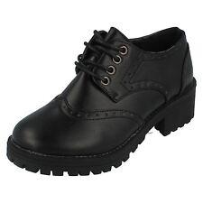 h3071 Spot On Puntera Redonda Tacón Casual Con Cordones Zapato Oxford cotidiano