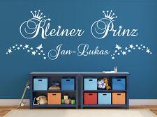 Wandaufkleber: Kleiner Prinz+Wunschname Kinderzimmer Baby Sterne Name WandTattoo