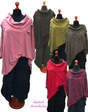 Lagenlook Oversize Strick Pulli Pullover Überwurf 6 Farben XXL,XXXL,4XL,5XL