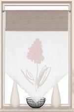 Design Kuvert Blume bestickt rosé Scheibengardine Bistrogardine BxH 60x90 90x90