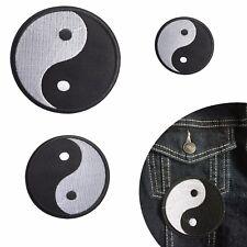 Yin Yang iron on patch Taoism Round ying yang balance 3 sizes iron-on patches