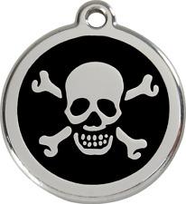 médaille acier gravée chien chat red dingo tête de mort 3 tailles 11 couleurs