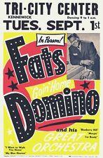 RR01 Vintage Fats Domino Rock & Roll Concert Advertisement Poster A3/A4