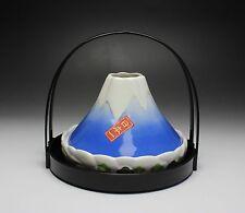 Japan Mount Fuji Volcano Ceramic Incense Burner Censer Mosquito Coil Holder