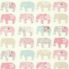 Clarke and Clarke Elephant Pastel 100% Cotton Fabric