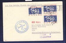 45624) KLM FF Amsterdam - Amman Jordanien 30.4.60, cover Brief ab Canada RR!