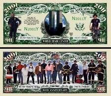 WORLD TRADE CENTER - BILLET DOLLAR US ! 11 SEPTEMBRE 2001 911 09 Attentats tours