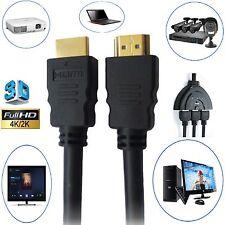 GOLD 1080P HDMI CABLE LEAD SMART HD TV HDTV 3D METRE 1m 2m 5m 10m 15m 1.4V PS3