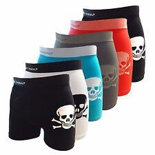Crazy Cool Men's Nylon Seamless Boxer Briefs Underwear 6-Pcs, One Size