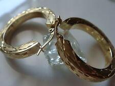 ALLA MODA ORECCHINI CIRCOLARI IN ORO 585er Orecchini dorati gioielli oro