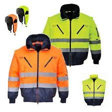 Warnschutzjacke Arbeitsjacke Winterjacke Piloten Warnjacke 4in1 Portwest Gr.S-5X