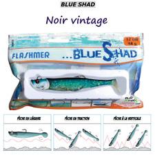FLASHMER : BLUE SHAD Noir Vintage : shad souple anti accroche, aromatisé, texan