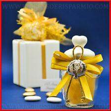 Bomboniere barattoli portaconfetti decorati 50° anniversario/nozze oro