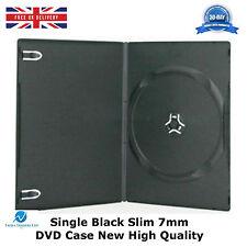 Noir fin unique boîtier DVD rachis de 7mm NEUF couverture régulière vide