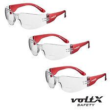 3 x voltX Clear Lens GRAFTER BIFOCAL Reading Safety Glasses, Ultra Lightweight