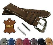 Unisex Men Women Genuine Leather Suede Nubuck Watch Strap UK Seller