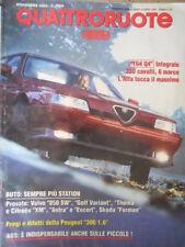 Quattroruote 457 1993 164 Q4 intergrale,230cv,6 marce:Alfa tocca il massimo