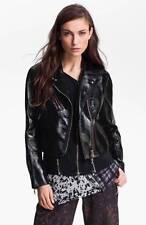 3.1 Phillip Lim Trompe Loel Layered Black Leather Motorcycle Biker Jacket $1500