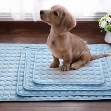 Indoor Summer Chilly Mat Cooling Pet Dog Cat Bed Cool Gel Pad Viscose Fiber Mats