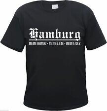 Hamburg T-Shirt - HEIMAT / LIEBE / STOLZ - Grösse S bis 3XL - Schwarz